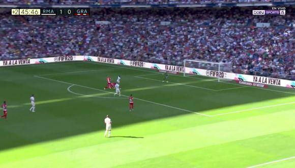Eden Hazard anotó su primer tanto oficial con el Real Madrid ante Granada por LaLiga Santander