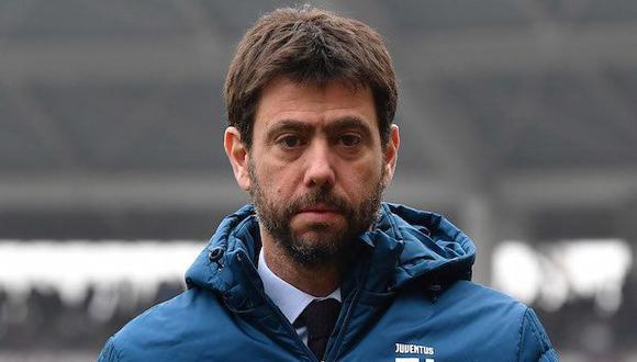 Andrea Agnelli, presidente de Juventus, admite que la Superliga presenta reducidas posibilidades. (Foto: AFP)