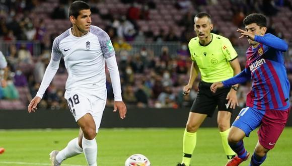 Luis Abram fue titular en el empate entre el Granada y Barcelona por LaLiga. (Foto: Granada CF)