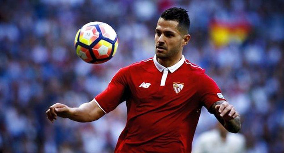 Vitolo logró la Europa Leaguecon la camiseta del Sevilla. (Getty Images)