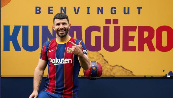 Sergio Agüero firmó contrato con Barcelona por las próximas dos temporadas. (Foto: FC Barcelona)