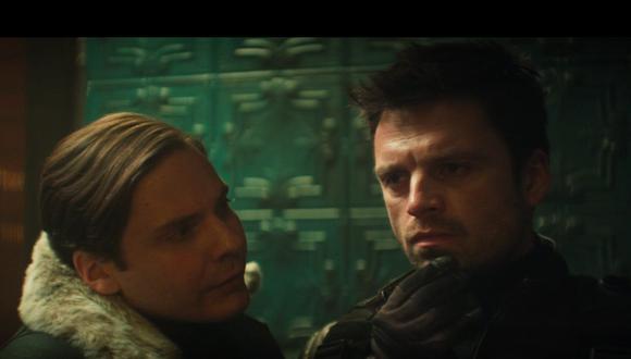 """Daniel Bruhl improvisó el momento entre Zemo y Bucky en """"The Falcon and the Winter Soldier"""". (Foto: Disney Plus)"""