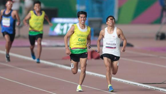 Rosbil Guillén ganó la medalla de oro en la modalidad 1500 metros, categoría T11 (discapacidad visual) en los Juegos Parapanamericanos 2019. (Foto: Hugo Perez)