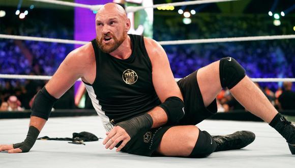 Tyson Fury debutó en la WWE en el evento Super ShowDown de Arabia Saudita. (Foto: WWE)