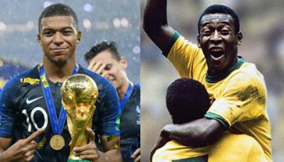 Kylian Mbappé y Pelé han hecho historia en la Copa del Mundo. (Fotos: Difusión)