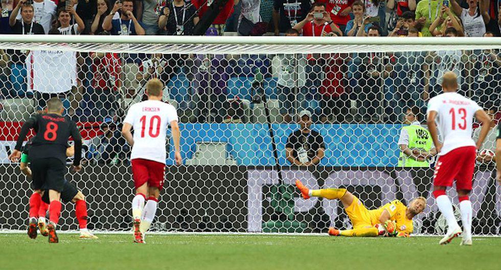 Luka Modric falló el penal de la victoria ante Dinamarca. (Getty)