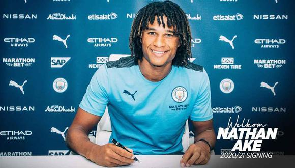 Manchester City anunció el fichaje de Nathan Aké. (Foto: @ManCityES)