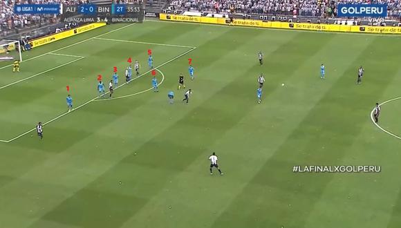Binacional defendió con siete jugadores para mantener la diferencia de goles. (Captura)