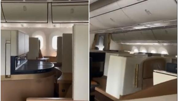 Pasajero de vuelo internacional demuestra cómo es ser el único pasajero dentro del avión. (Foto: @ASvanevik / Twitter)