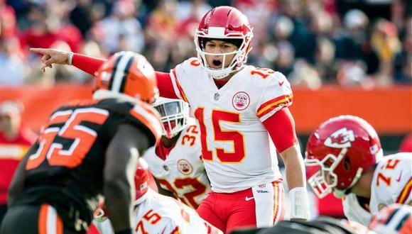 Chiefs vs. Browns se enfrentaron por los playoffs de la NFL con Patrick Mahomes. (USA Today Sports)