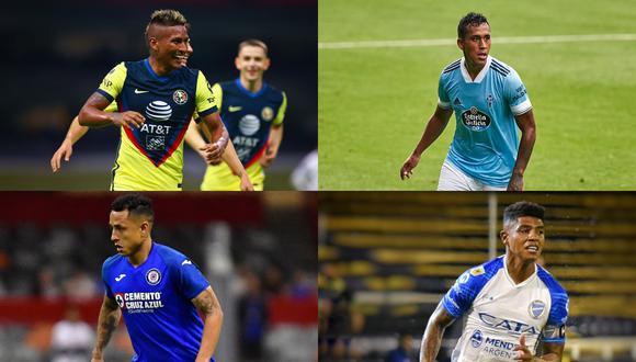 Los volantes de la Selección Peruana y su gran presente en el extranjero. (Fotos: Agencias)