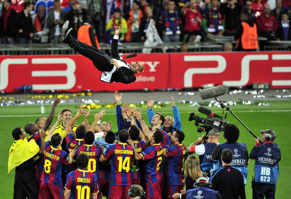 El último XI de Guardiola en una final de Champions League. (Fotos: Agencias)