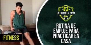 Ejercicios en casa: rutina fitness de pecho, hombros y triceps - empuje