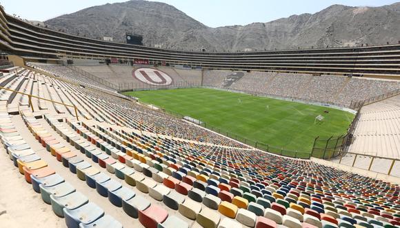 El estadio Monumental será uno de los escenarios para la Fase 2 de la Liga 1. (Foto: Prensa U)
