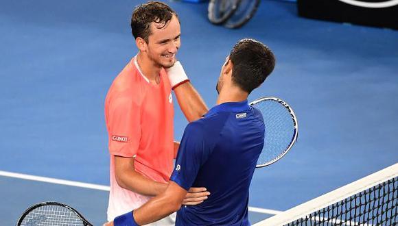 Djokovic vs. Medvédev chocan por el título del Australian Open 2021. (Foto: AFP)