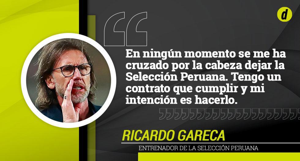 Las mejores frases de Ricardo Gareca en la conferencia de prensa.