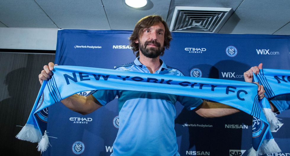 Andrea Pirlo - New York City FC (2015-2018) (Foto: AFP)