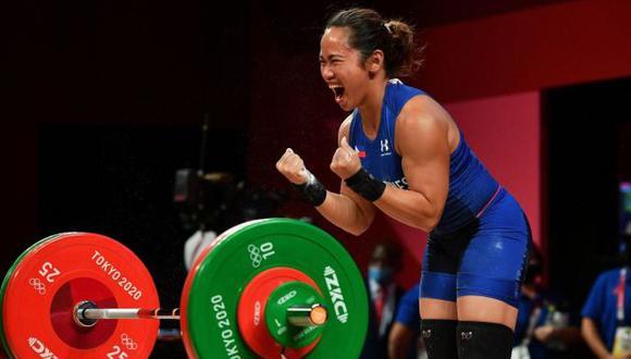 Filipina Hidilyn Diaz ganó una casa y 655 mil dólares por su medalla de oro olímpica. (Difusión)