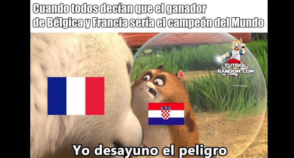 Los mejores memes de la previa de la final del Mundial Rusia 2018 entre Francia vs Croacia.