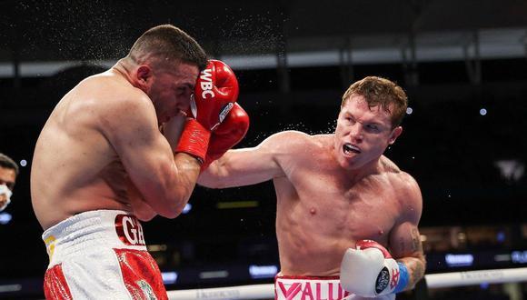 Saúl Canelo Álvarez vs. Yildirim se vieron las caras este sábado desde Miami (Matchroom boxing)