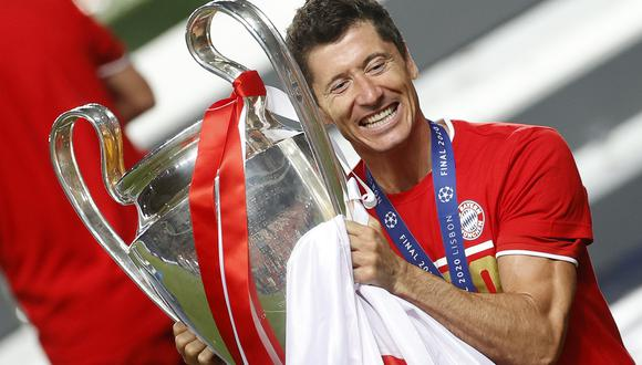 Lewandowski fue el que más puntos recibió de entrenadores, capitanes, periodistas y aficionados para un total de 52 puntos. (Foto: AFP)