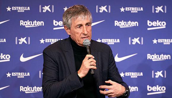 Quique Setién firmó un contrato con Barcelona hasta mediados de 2022. (Foto: Getty Images)