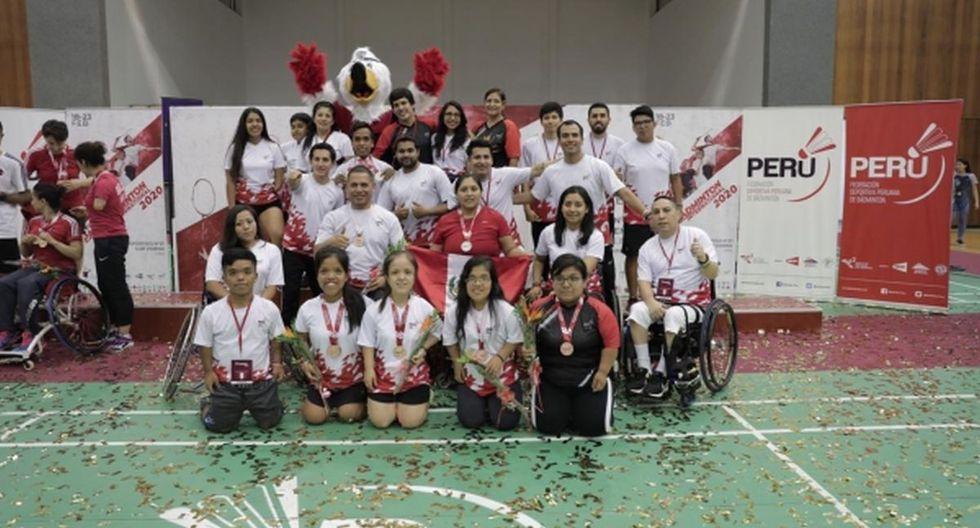 El equipo rojiblanco que compitió en el Perú Parabadminton International 2020. (Foto: IPD)