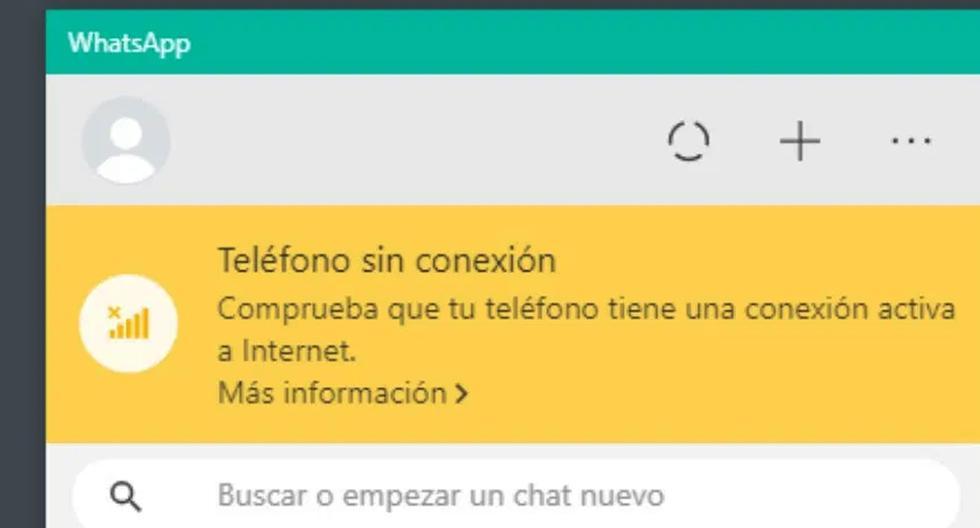 """WhatsApp Web   Cómo solucionar el mensaje """"tú teléfono no está conectado""""   Tutorial   Aplicaciones   Apps   Smartphone   Celulares   Wasap   PC   Computadora   NNDA   NNNI   DEPOR-PLAY   DEPOR"""