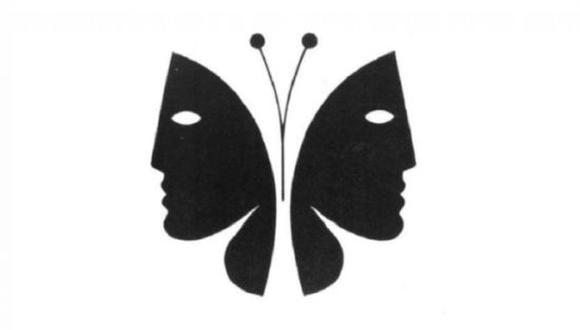 ¿Dos rostros o una mariposa? El test de personalidad que revela aspectos de tu forma de ser. (Foto: Pinterest)