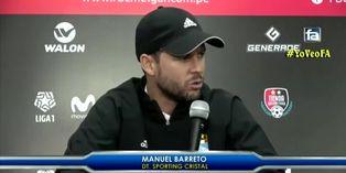 Manuel Barreto se pronució sobre su continuidad en Cristal tras nueva derrota