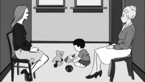 En la presente imagen, vemos a dos mujeres que se encuentran cuidando a un pequeño. Sin embargo, mínimos detalles te harán saber quién es la verdadera mamá.