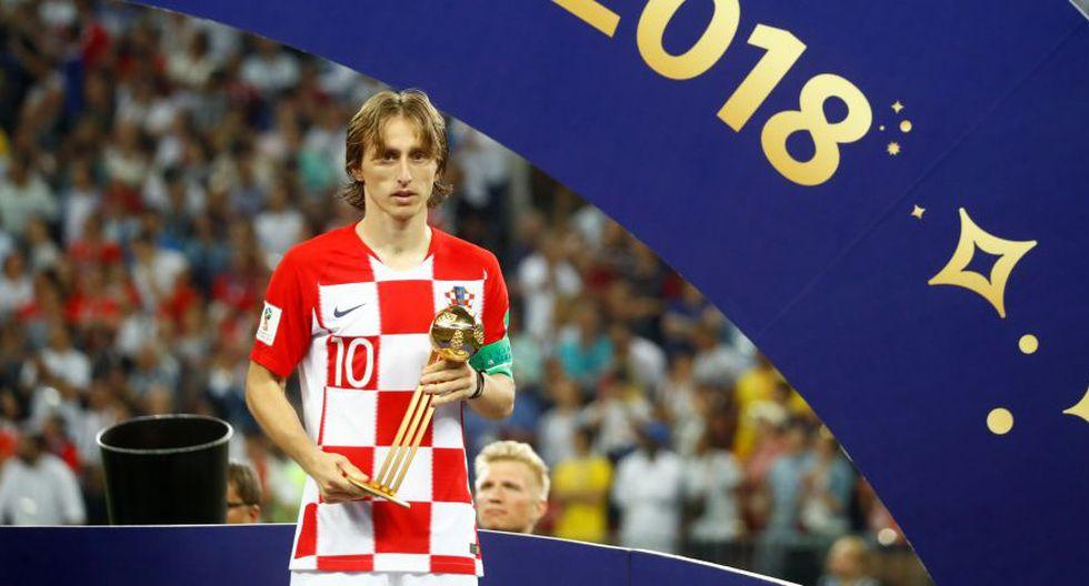 Luka Modric se llevó el Balón de Oro del Mundial Rusia 2018.