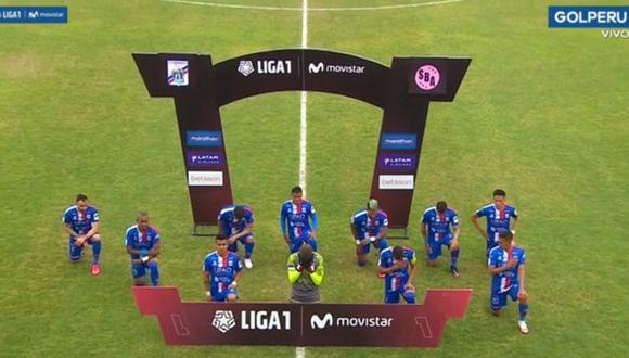 El homenaje de Carlos A. Mannucci antes del partido ante Sport Boys. (Captura: GOLPERU)