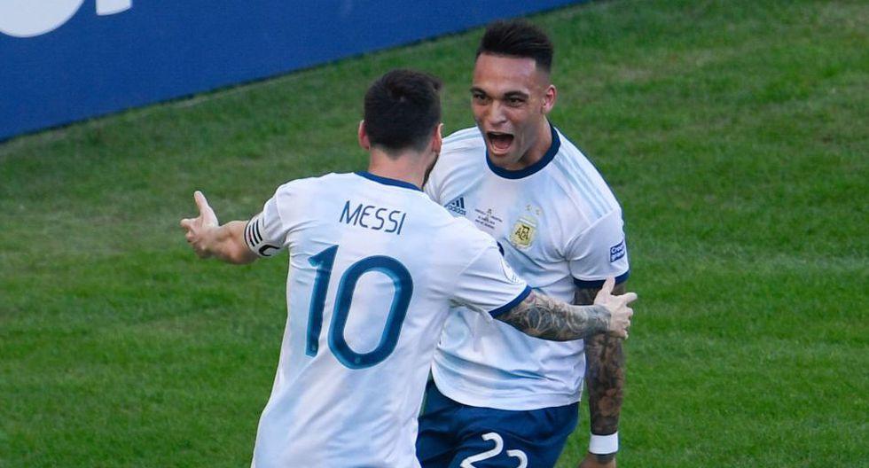 Lautaro Martínez y Lionel Messi comparten equipo en la Selección de Argentina. (AFP)