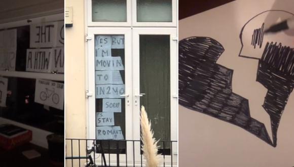 Decidió conversar con su vecino usando carteles y él tuvo una respuesta que le 'rompió el corazón'. (Foto: @a129593a / TikTok)