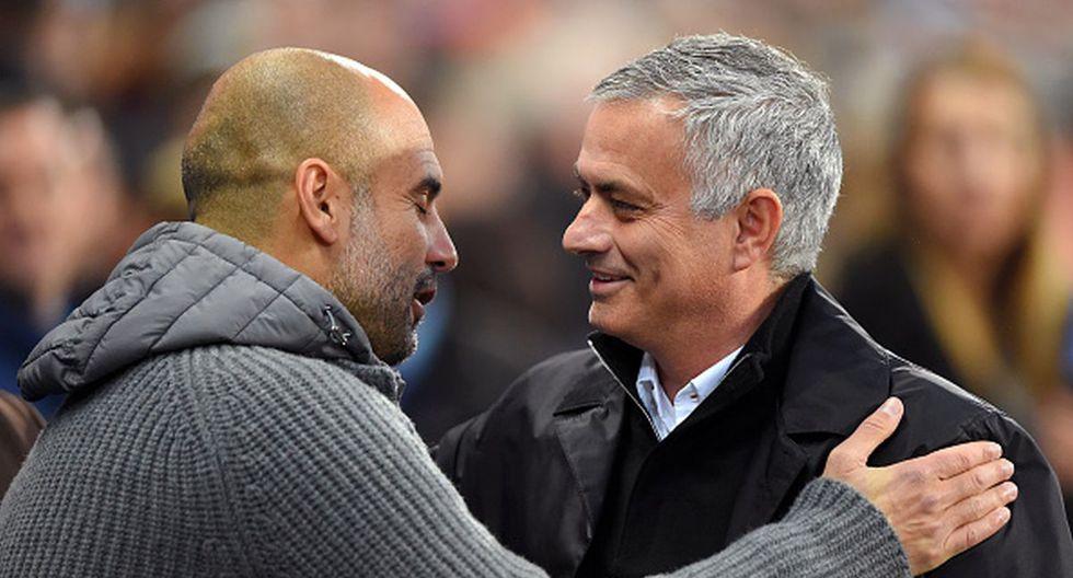 Guardiola y Mourinho también se han enfrentado en el fútbol español. (Foto: Getty Images)