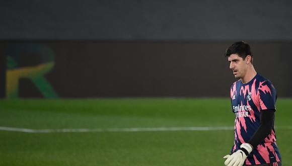 Thibaut Courtois tapó en Chelsea antes de llegar al Real Madrid. (Foto: AFP)