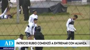Patricio Rubio se incorporó a los entrenamientos de Alianza Lima