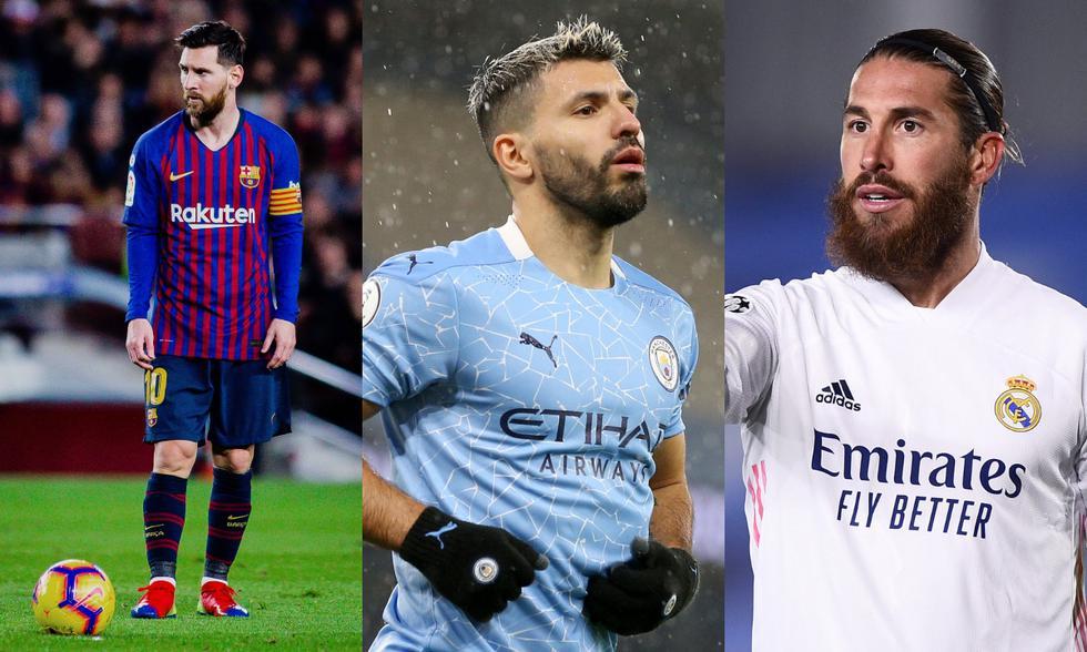 Messi, Aguero y Ramos encabezan la lista de jugadores que terminan contrato en junio. (Foto: Getty / Image)