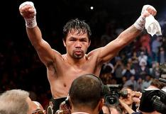 Para buscar la presidencia de Filipinas: Manny Pacquiao anunció su retiro del boxeo