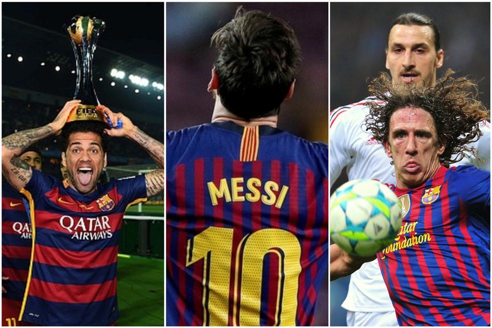 Los 10 jugadores con más partidos en la historia del FC Barcelona.