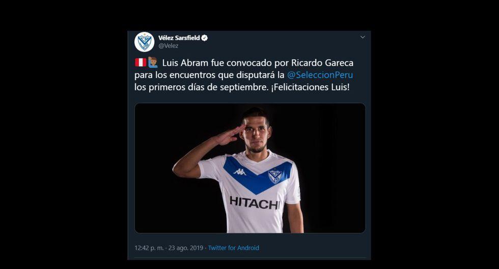 Así reaccionaron los equipos de los convocados a la Selección Peruana (Captura)