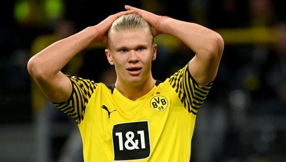 Erling Haaland termina contrato con el Dortmund a mediados de 2024. (Foto: AFP)
