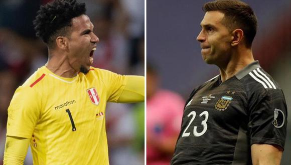 Pedro Gallese y Emiliano Martínez protagonizan encuesta de la FIFA. (Foto: EFE/Composición)