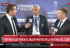 """""""Capaz que le saqué una sonrisa"""": Hernán Crespo recuerda a Diego Maradona luego de ganar la Copa Sudamericana [VIDEO"""