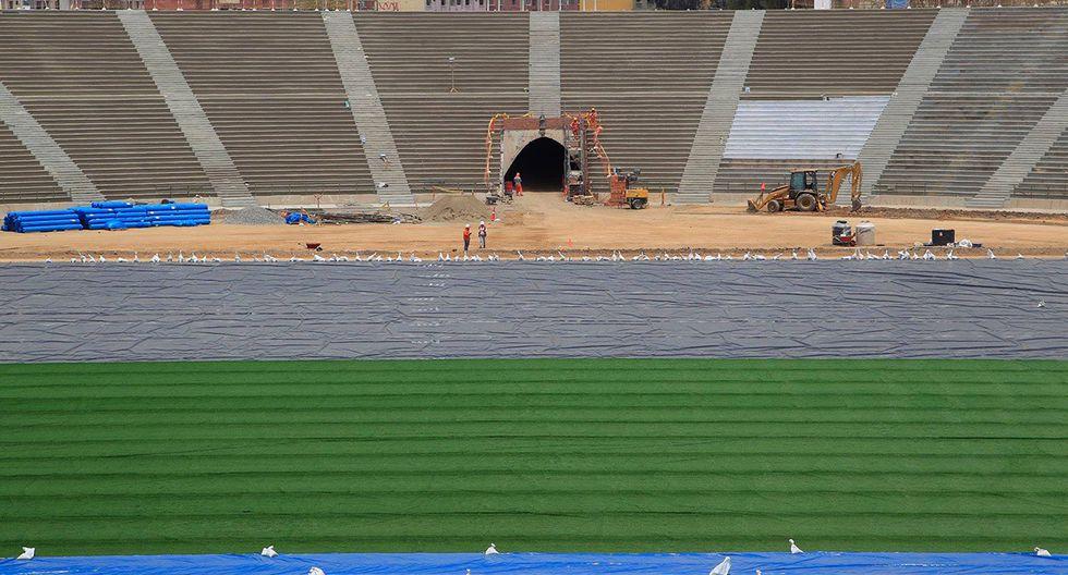 Lima 2019: Estadio San Marcos, campo y tribunas, sede del fútbol masculino y femenino. (Foto: Facebook Lima 2019)