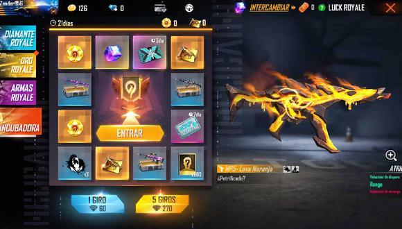 Free Fire: guía para obtener el skin MP5 - Lava Naranja gratis de la Incubadora