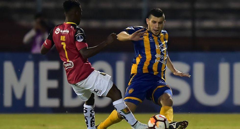 Deportivo Cuenca vs. Sportivo Luqueño por la fase 1 de Sudamericana 2018. (AFP)