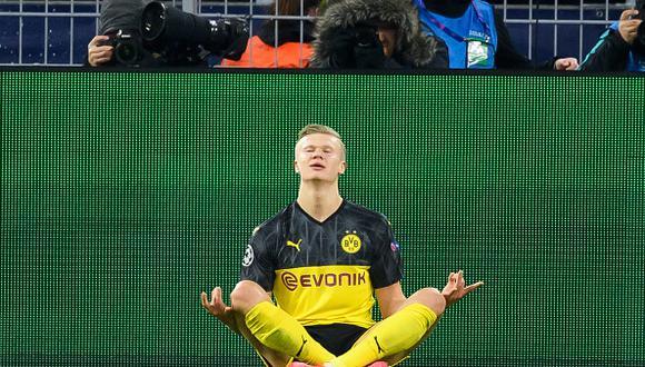Récenle a Haaland: Dortmund venció a PSG con doblete del noruego por ida de octavos de Champions League 2020. (Foto: Getty)
