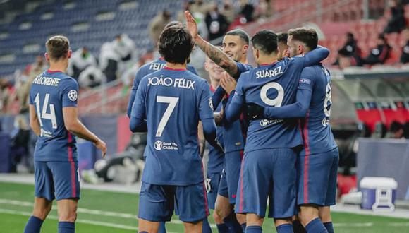 Los 'colchoneros' vencieron en Austria y avanzaron a octavos de Champions League. (Foto: Atlético de Madrid)